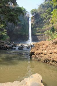 Air Terjun Coban Baung terletak di Desa Cowek, Kecamatan Purwodadi, Pasuruan, Jawa Timur