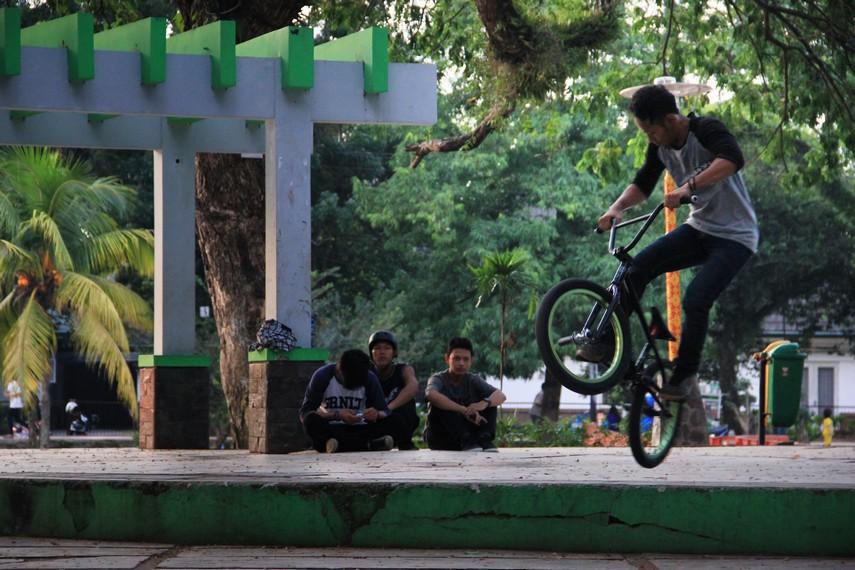 Selain untuk keluarga, taman ini juga dilengkapi dengan berbagai arena ketangkasan untuk anak muda seperti arena untuk bermain sepeda bmx