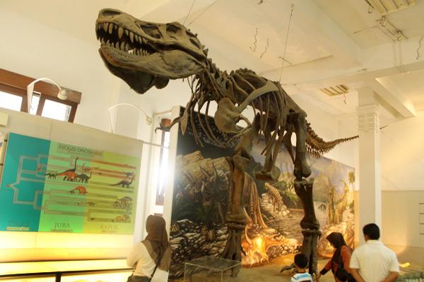 Replika Tyranosaurus Rex ikut terpampang di Museum Geologi