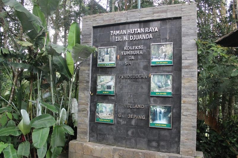 Informasi mengenai berbagai objek wisata yang ada di dalam Taman Hutan Raya Djuanda