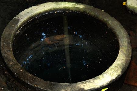 Sumur yang terdapat di pojok Petirtaan Ken Dedes