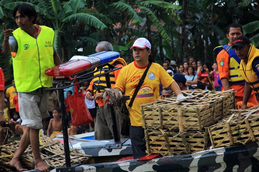 Seratus ekor bebek dilepas dalam tradisi lempar bebek dalam perayaan pehcun