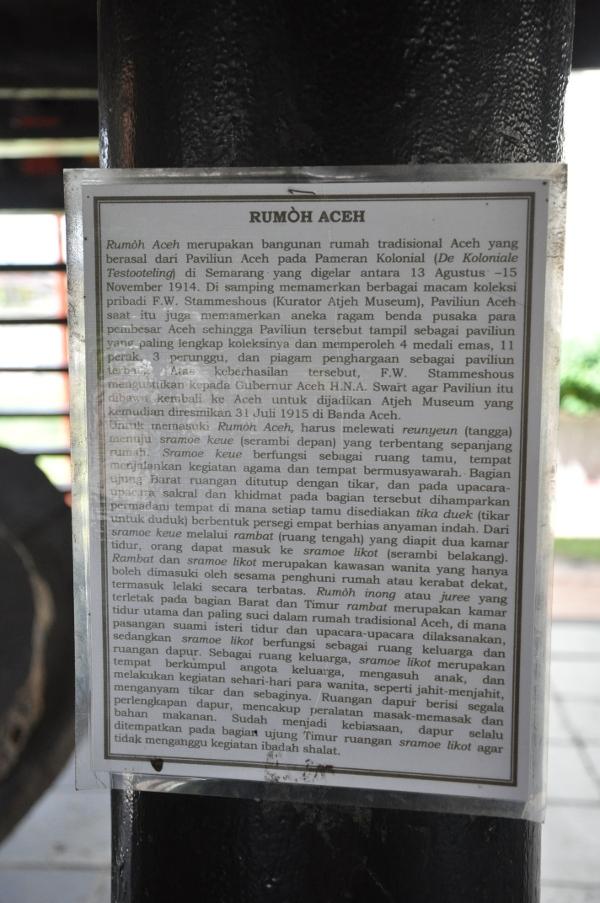Penjelasan mengenai sejarah Rumoh Aceh
