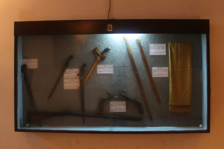 Koleksi senjata tradisional yang dimiliki Museum Mandala Wangsit Siliwangi