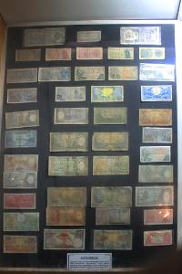 Koleksi uang-uang di masa perjuangan yang ada di Museum Mandala Wangsit Siliwangi