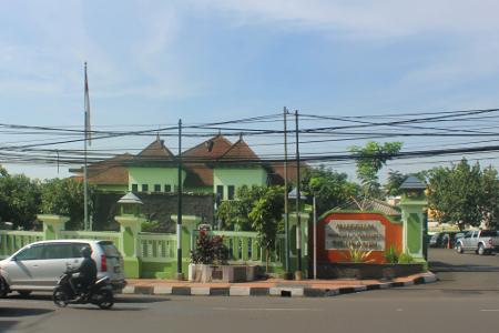 Suasana Museum Mandala Wangsit Siliwangi yang terletak di Jalan Lembong 38, Bandung