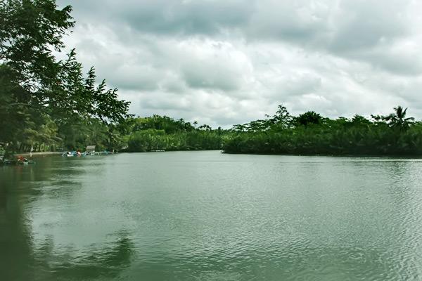 Anda bisa merasakan hangatnya air dengan berenang di  Sungai Cijulang yang berada di Kawasan Pangandaran