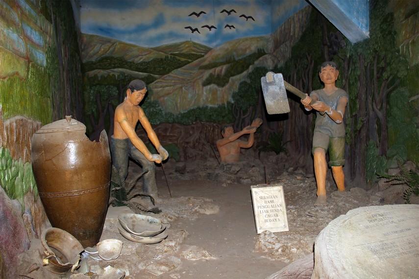 Salah satu diorama yang dipamerkan di ruang bawah tanah Museum Mulawarman