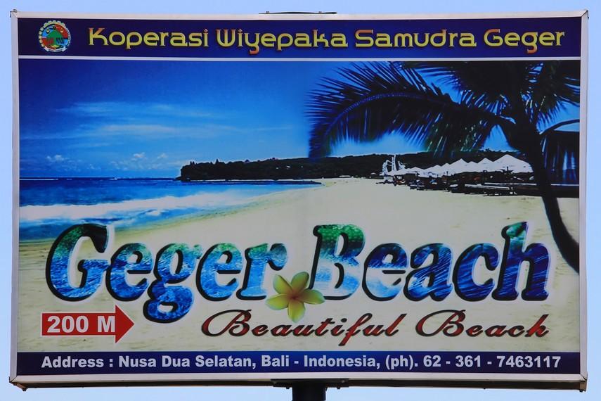 Pantai Geger merupakan seruas pantai publik yang masih tersisa di kawasan Nusa Dua