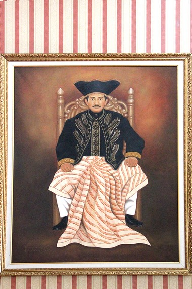 Lukisan Sultan Aji Muhammad Idris, penguasa Kesultanan Kutai Kartanegara ke-14