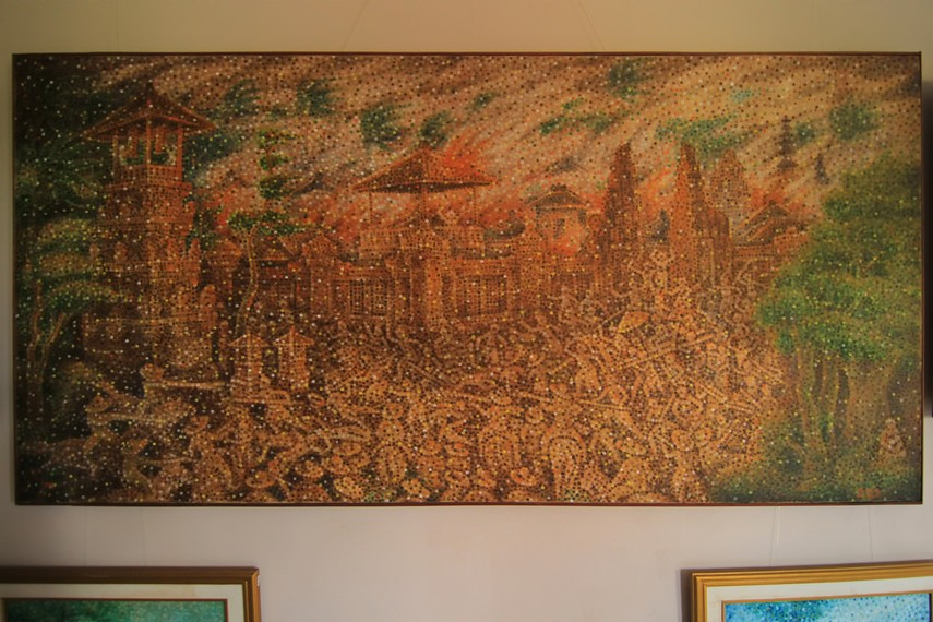 Salah satu karya terbaik Ngurah Gede Pemecutan, mengangkat peristiwa Puputan Badung yang dikerjakan selama 18 bulan