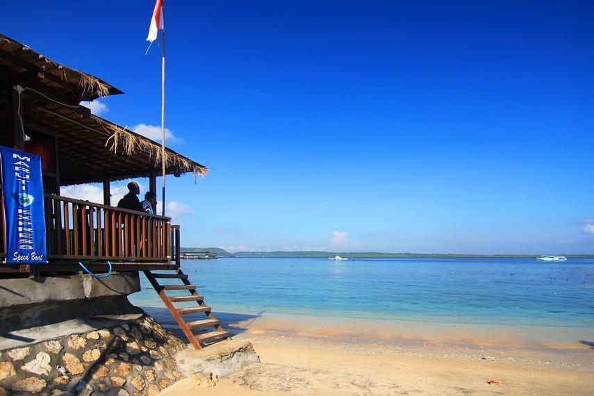 Panorama Dermaga Toyopakeh, salah satu titik penyeberangan utama Nusa Penida ke Pantai Sanur