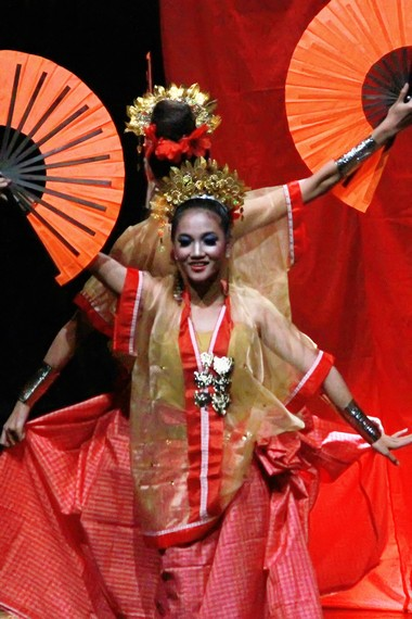 Selain gendang, alat musik tradisional lain yang mengiringi pementasan tari pakarena adalah suara pui-pui dan sia-sia