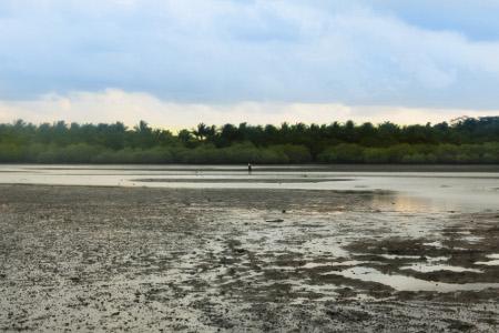 Paduan danau dan Pantai Cijulang menjadi komposisi pemandangan indah di kawasan ini