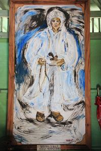 Lukisan Arif Muhammad menjadi salah satu koleksi museum di Candi Cangkuang