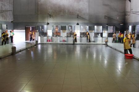 Salah satu ruang di pabrik yang digunakan untuk melakukan pencampuran bahan dasar dodol