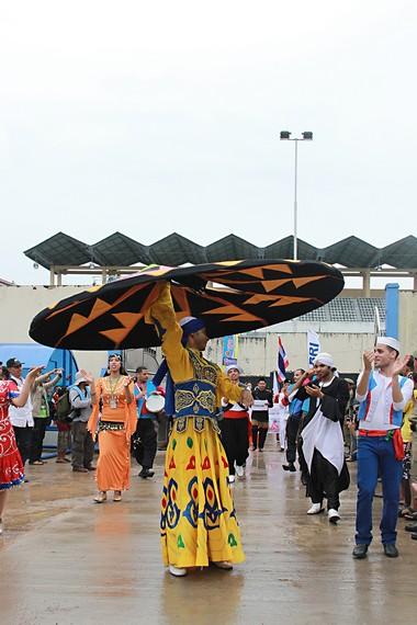 Kontingen budaya dari Mesir yang turut memeriahkan penyelenggaraan EIFAF 2013