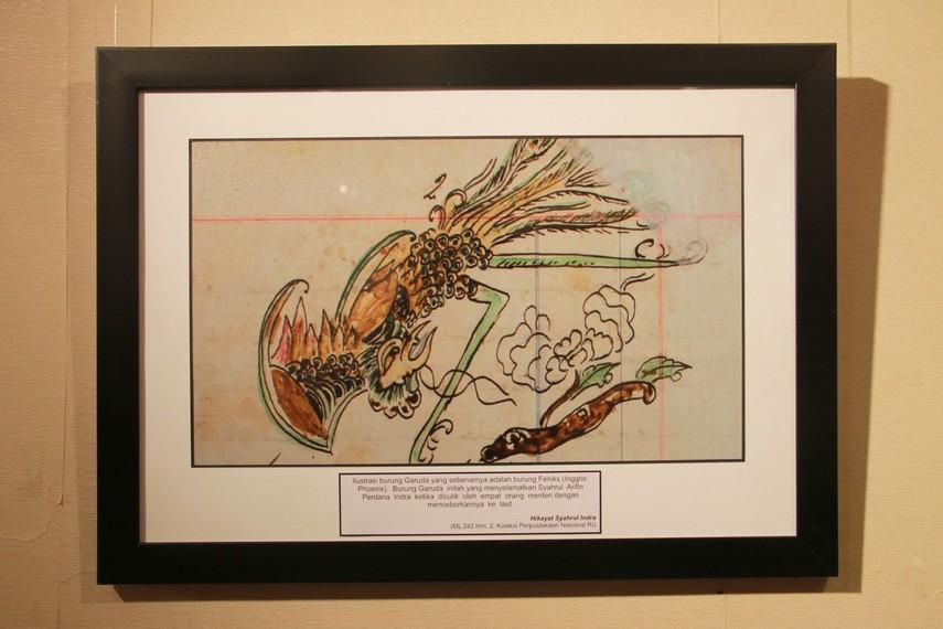 Ilustrasi burung garuda yang menyelamatkan Syahrul Arifin dalam Hikayat Syahrul Indra