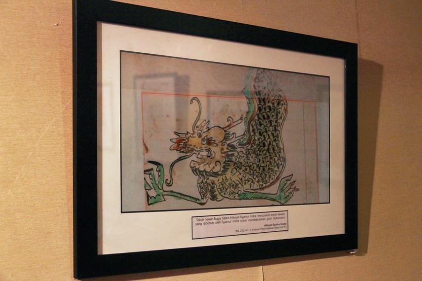 Ilustrasi seekor naga yang dibunuh oleh Syahrul Indra untuk membebaskan Putri Sukandani