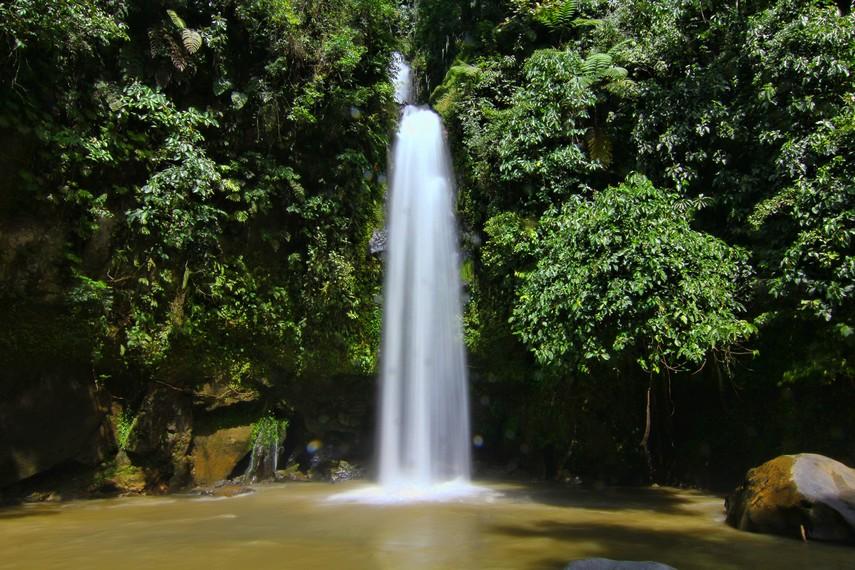 Curug Lematang Indah berlokasi di Desa Perahu Dipo, Pagaralam, Sumatera Selatan