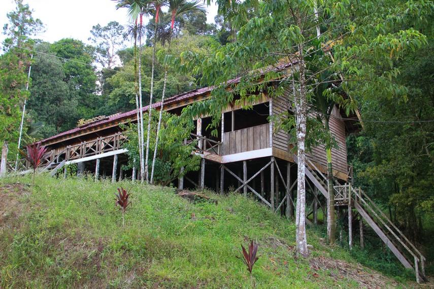 Rumah bentang Samalantan menjadi tempat menyelenggarakan kegiatan keagamaan dan upacara adat naik dango bila musim panen tiba