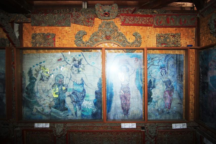 Sebagian besar koleksi lukisan Le Mayeur menjadikan wanita Bali dalam berbagai aktivitas sebagai objek