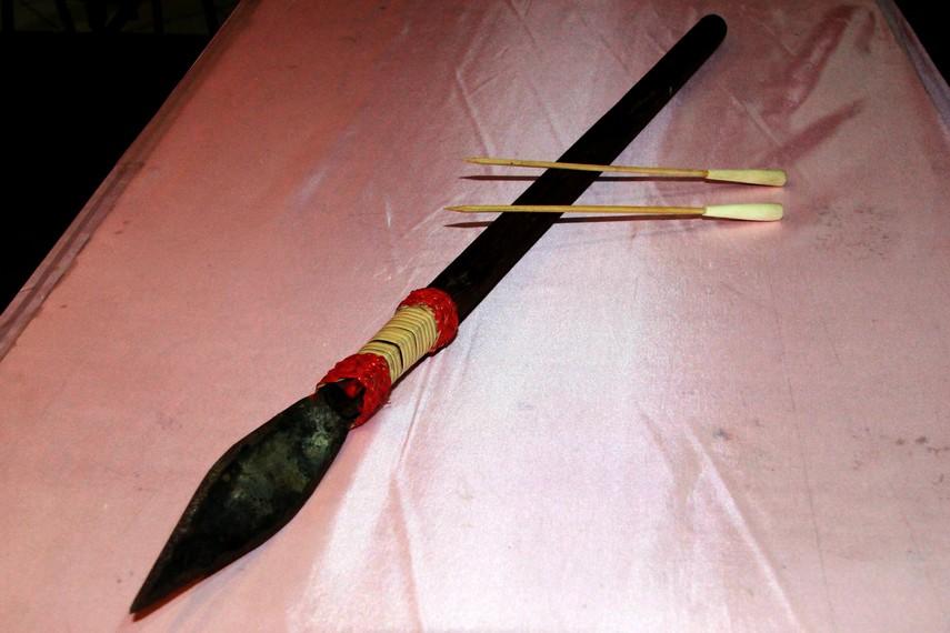 Selain mandau, masyarakat Dayak juga mengenal sumpit sebagai senjata yang harus dibawa saat mereka berburu