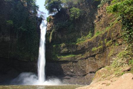 Air terjun ini memiliki suasana yang sejuk dengan pepohonan di sekelilingnya menjadi daya tarik tersendiri buat air terjun ini