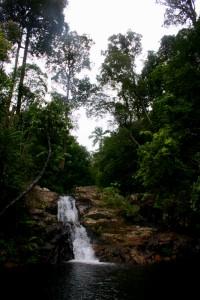 Keindahan alam yang terletak di tengah hutan Ulu Maras