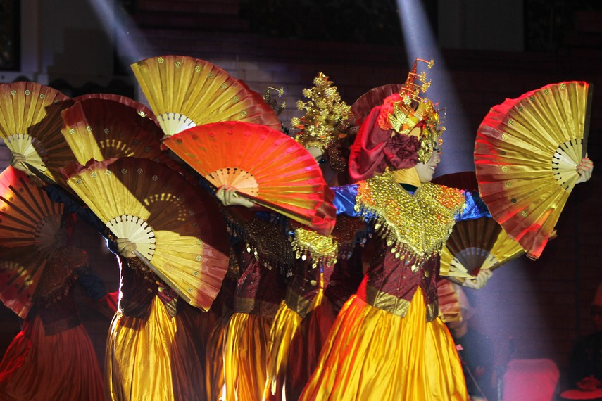 Banyuasin asal dari tari ini dikenal sebagai salah satu kabupaten di Sumatera Selatan yang ditinggali oleh banyak suku dan agama