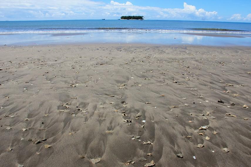 Kontur yang landai membuat Pantai Gandoriah memiliki ombak yang ramah