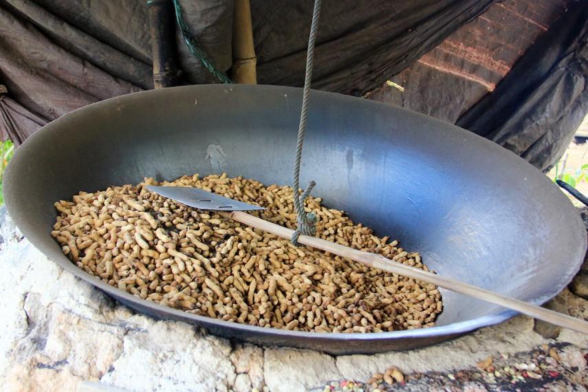 Kacang sangrai selama ini dikenal masyarakat sekitar dengan nama kacang tore