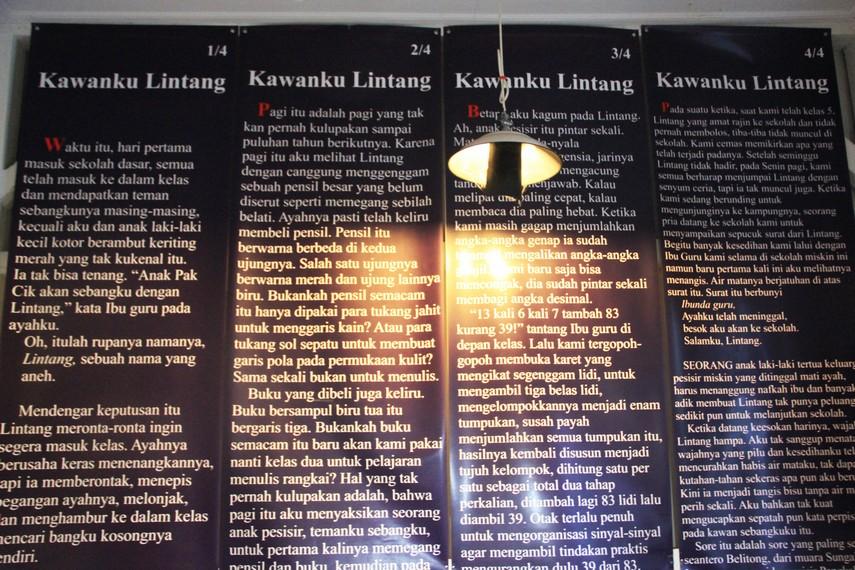 Salah satu cuplikan novel Laskar Pelangi yang menceritakan seorang anak pintar bernama Lintang