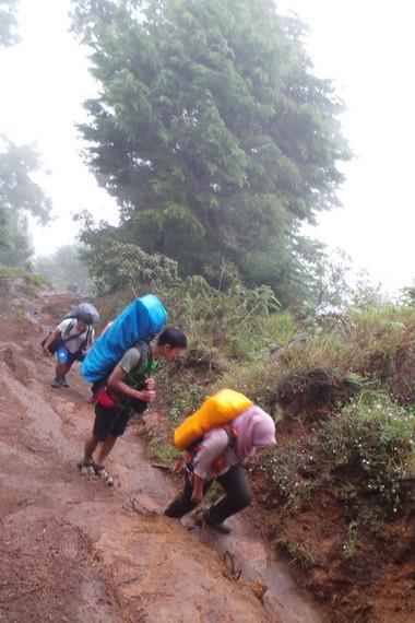Di akhir pekan, puluhan hingga ratusan pendaki bahkan rela jauh-jauh mengunjungi Gunung Prau