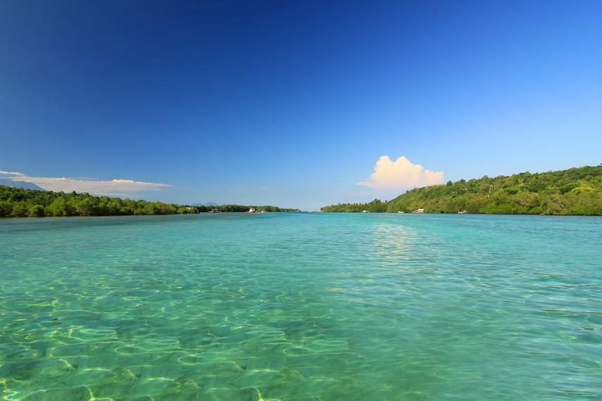 Keindahan panorama alam Nusa Lembongan yang eksotis dapat dinikmati dengan leluasa oleh pengunjung