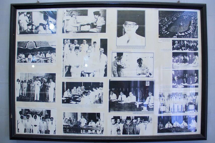 Sejumlah dokumentasi perjuangan Bung Hatta pada masa awal kemerdekaan RI terpajang di bagian museum ini