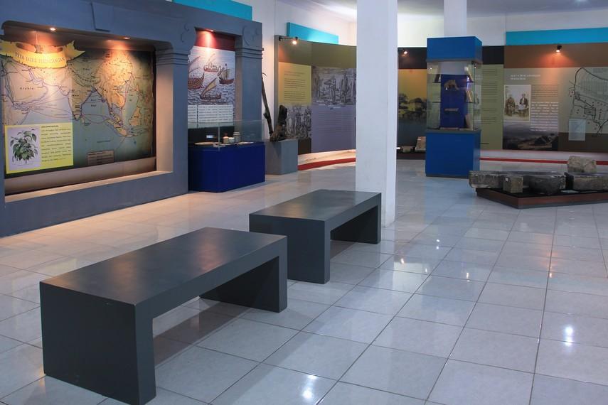 Salah satu sudut ruang pamer yang ada di Museum Situs Kepurbakalaan Banten Lama