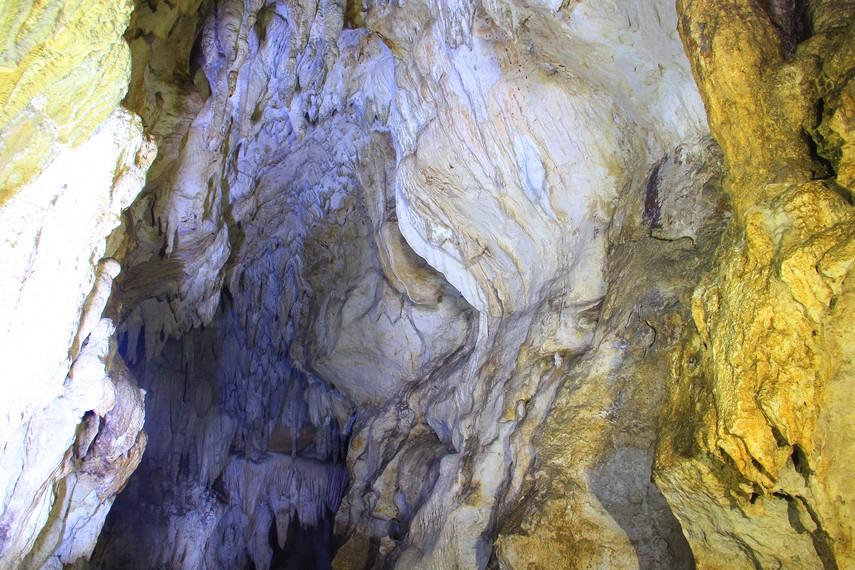 Nama Lalay merupakan bahasa Sunda yang berarti kelelawar. Konon di gua ini banyak terdapat kelelawar yang keluar masuk melalui mulut gua
