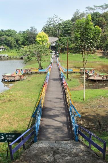 Waduk Panji Sukarame menempati area seluas 32 hektare, tak jauh dari Stadion Rondong Demang, Tenggarong