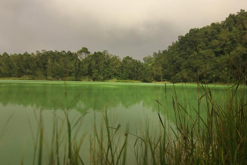 Warna-warna pada permukaan telaga dipengaruhi beberapa faktor, seperti plankton, kandungan belerang, sinar matahari, serta lingkungan sekitar