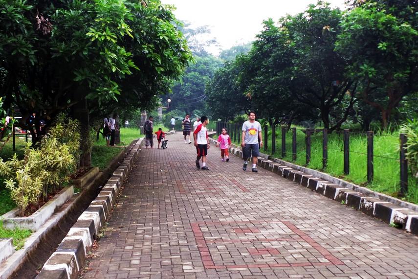 Pada akhir pekan, taman ini ramai dikunjungi pengunjung yang sebagian besar tinggal di sekitar taman
