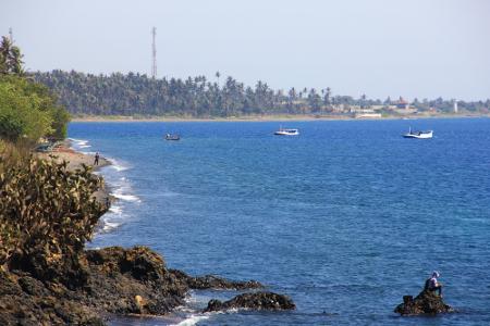 Karakteristik unik dari Pantai Watu Dodol adalah pantainya yang tidak berpasir, melainkan dipenuhi bebatuan coral dan karang