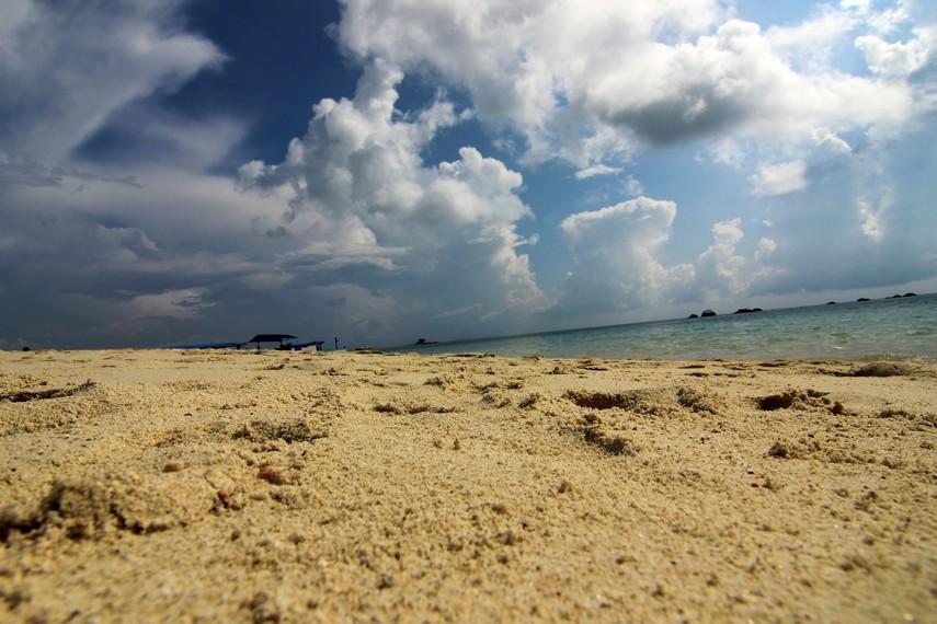 Pasirnya yang putih dan lembut membuat kita nyaman berjalan-jalan mengitari Pulau Pasir