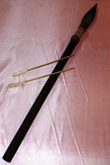 Sumpit Dayak mempunyai panjang sekitar 1-3 meter
