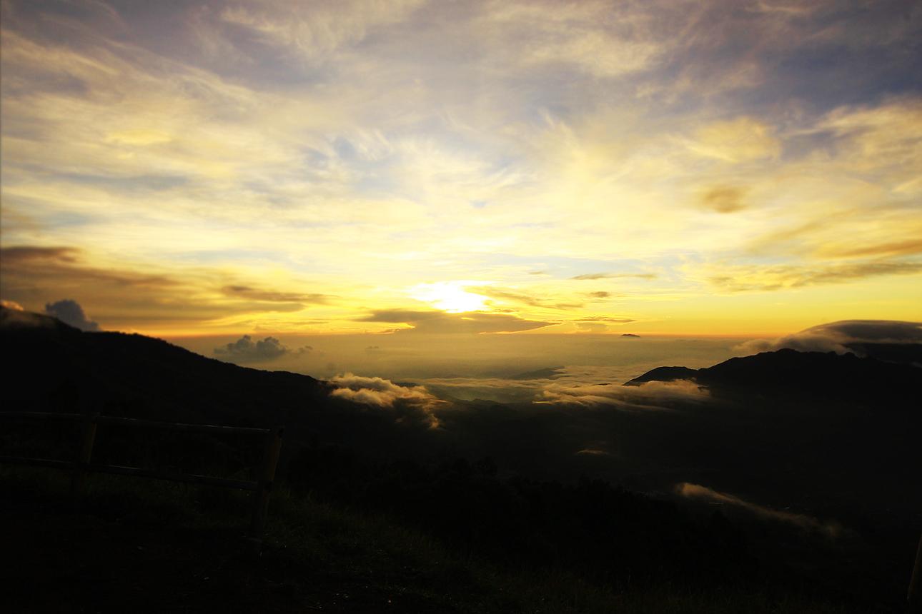 Ada dua jalur yang dapat dilalui untuk menuju puncak Bukit Sikunir. Jalur yang satu lebih terjal tapi lebih dekat. Pilih jalur sesuai kondisi tubuh Anda