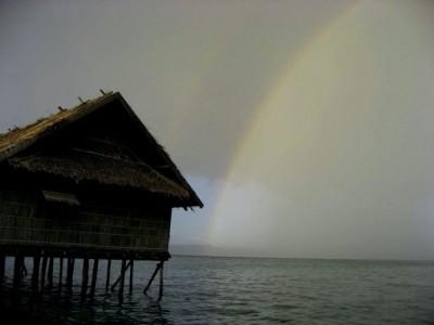 Pelangi di Wakatobi ( Foto:Ricky Pesik)