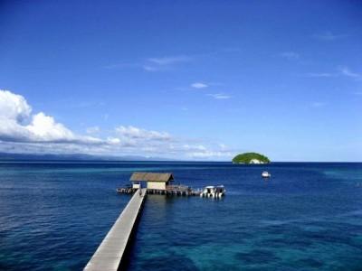 Pemandangan indah dari Sorido Bay Resort, Wangi Wangi ( Foto:Ricky Pesik )