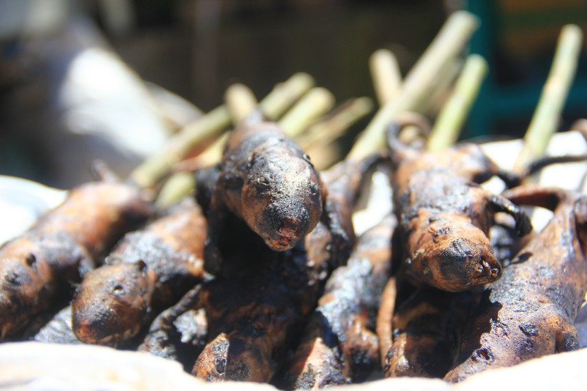 Daging tikus sawah juga menjadi salah satu daging yang dijual di Pasar Tomohon
