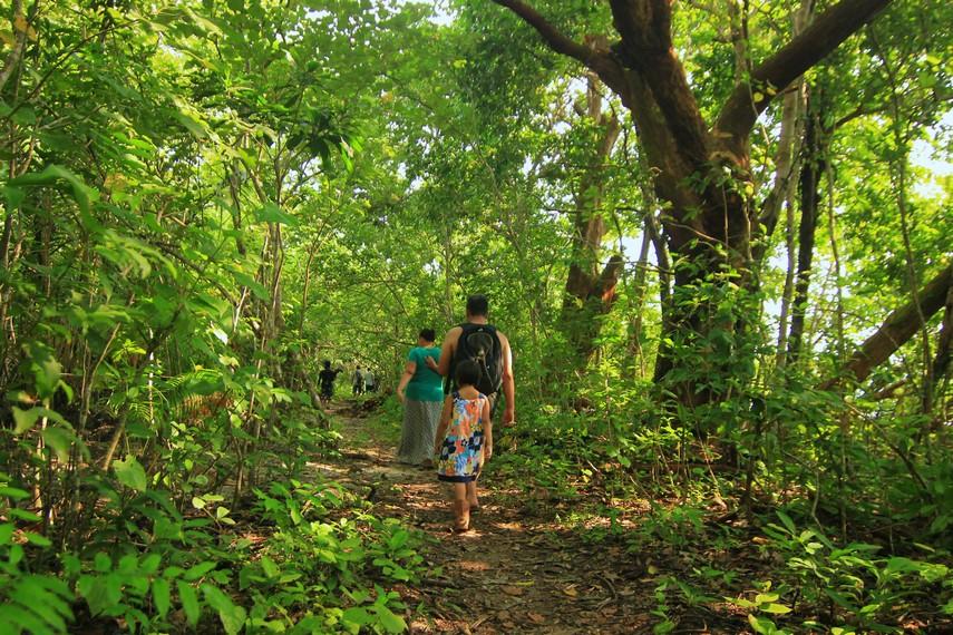Bagi Anda yang suka menjelajahi hutan, bisa memulai jalan kaki dengan waktu tempuh mencapai 3 hari untuk menuju Padang Cidaon