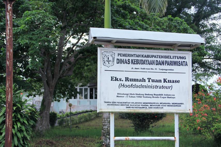 Rumah Tuan Kuase ditetapkan menjadi salah satu cagar budaya yang ada di Pulau Belitung